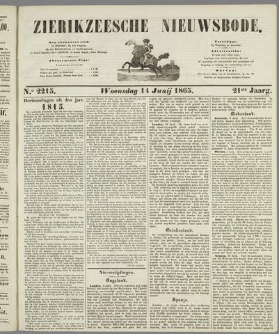 Zierikzeesche Nieuwsbode 1865-06-14