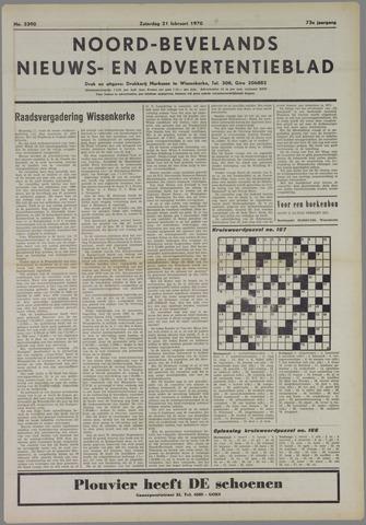 Noord-Bevelands Nieuws- en advertentieblad 1970-02-21