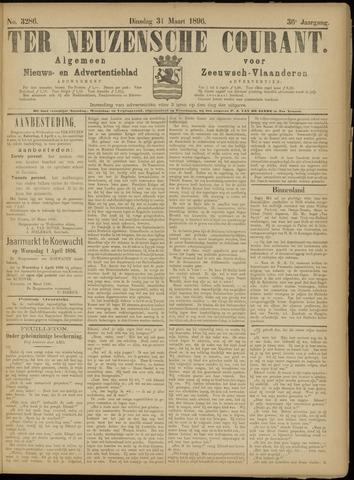 Ter Neuzensche Courant. Algemeen Nieuws- en Advertentieblad voor Zeeuwsch-Vlaanderen / Neuzensche Courant ... (idem) / (Algemeen) nieuws en advertentieblad voor Zeeuwsch-Vlaanderen 1896-03-31