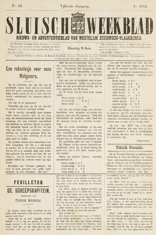 Sluisch Weekblad. Nieuws- en advertentieblad voor Westelijk Zeeuwsch-Vlaanderen 1874-06-09