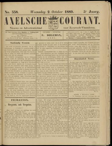 Axelsche Courant 1889-10-02