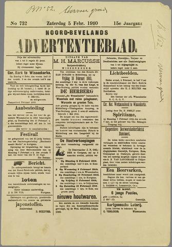 Noord-Bevelands Nieuws- en advertentieblad 1910