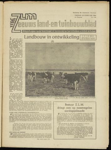 Zeeuwsch landbouwblad ... ZLM land- en tuinbouwblad 1964-02-28