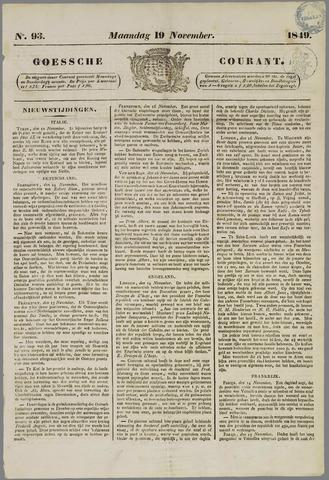 Goessche Courant 1849-11-19