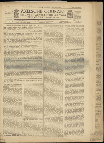 Axelsche Courant 1945-10-06