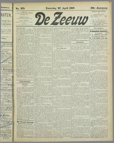 De Zeeuw. Christelijk-historisch nieuwsblad voor Zeeland 1918-04-27