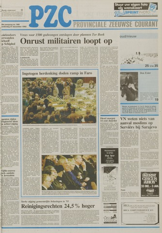 Provinciale Zeeuwse Courant 1992-12-31
