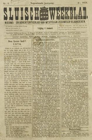 Sluisch Weekblad. Nieuws- en advertentieblad voor Westelijk Zeeuwsch-Vlaanderen 1878