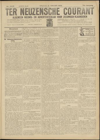 Ter Neuzensche Courant. Algemeen Nieuws- en Advertentieblad voor Zeeuwsch-Vlaanderen / Neuzensche Courant ... (idem) / (Algemeen) nieuws en advertentieblad voor Zeeuwsch-Vlaanderen 1936-01-31