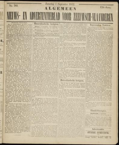 Ter Neuzensche Courant. Algemeen Nieuws- en Advertentieblad voor Zeeuwsch-Vlaanderen / Neuzensche Courant ... (idem) / (Algemeen) nieuws en advertentieblad voor Zeeuwsch-Vlaanderen 1872-09-07