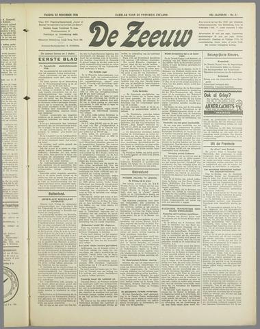 De Zeeuw. Christelijk-historisch nieuwsblad voor Zeeland 1934-11-23