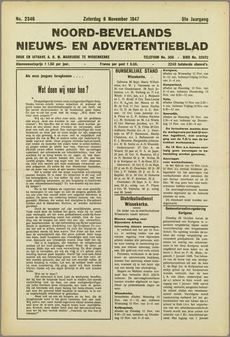 Noord-Bevelands Nieuws- en advertentieblad 1947-11-08