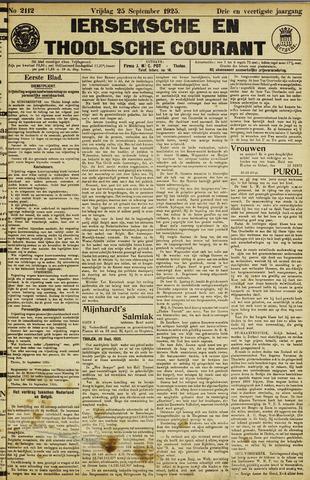 Ierseksche en Thoolsche Courant 1925-09-25