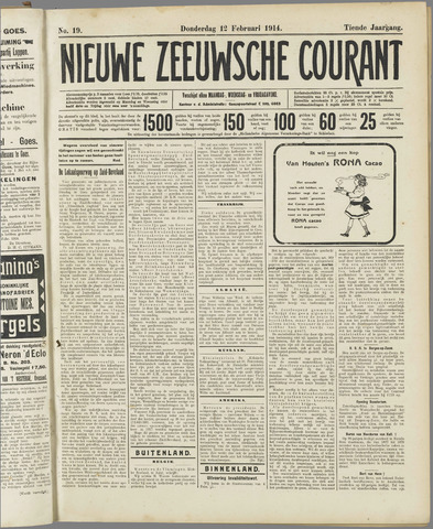 Nieuwe Zeeuwsche Courant 1914-02-12