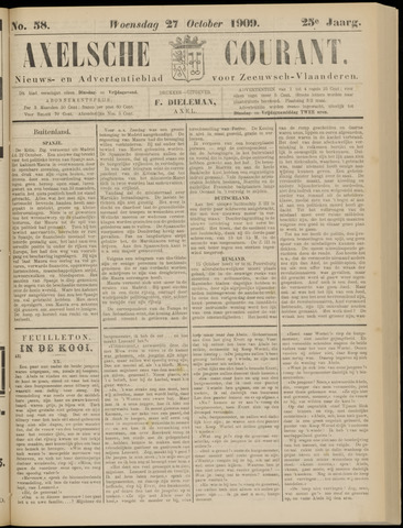 Axelsche Courant 1909-10-27