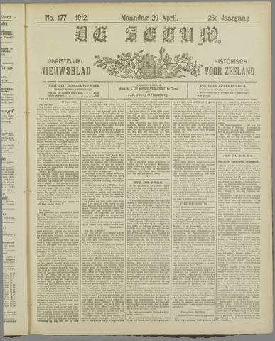 De Zeeuw. Christelijk-historisch nieuwsblad voor Zeeland 1912-04-29