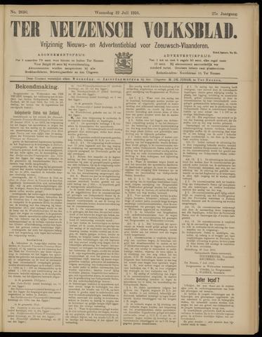 Ter Neuzensch Volksblad. Vrijzinnig nieuws- en advertentieblad voor Zeeuwsch- Vlaanderen / Zeeuwsch Nieuwsblad. Nieuws- en advertentieblad voor Zeeland 1916-07-12