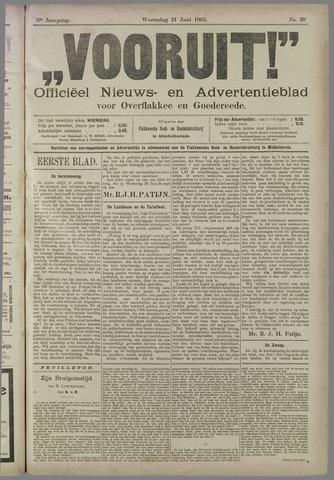 """""""Vooruit!""""Officieel Nieuws- en Advertentieblad voor Overflakkee en Goedereede 1905-06-21"""