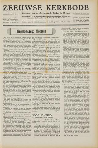 Zeeuwsche kerkbode, weekblad gewijd aan de belangen der gereformeerde kerken/ Zeeuwsch kerkblad 1951-05-04
