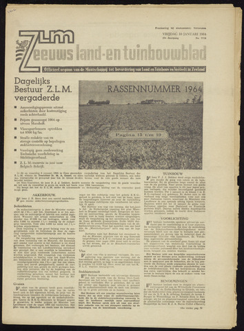 Zeeuwsch landbouwblad ... ZLM land- en tuinbouwblad 1964-01-10