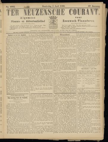 Ter Neuzensche Courant. Algemeen Nieuws- en Advertentieblad voor Zeeuwsch-Vlaanderen / Neuzensche Courant ... (idem) / (Algemeen) nieuws en advertentieblad voor Zeeuwsch-Vlaanderen 1900-04-05
