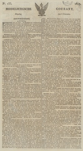 Middelburgsche Courant 1827-11-06
