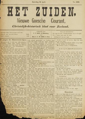 Het Zuiden, Christelijk-historisch blad 1886-04-10