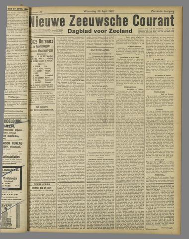 Nieuwe Zeeuwsche Courant 1920-04-28
