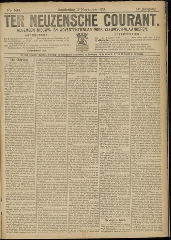 Ter Neuzensche Courant. Algemeen Nieuws- en Advertentieblad voor Zeeuwsch-Vlaanderen / Neuzensche Courant ... (idem) / (Algemeen) nieuws en advertentieblad voor Zeeuwsch-Vlaanderen 1914-11-19