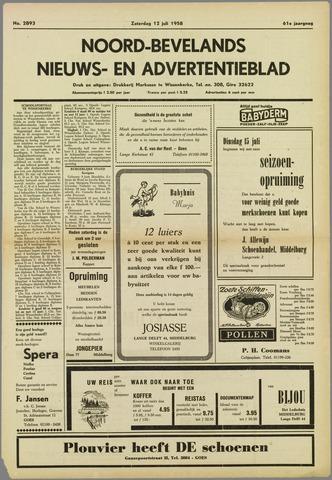 Noord-Bevelands Nieuws- en advertentieblad 1958-07-12