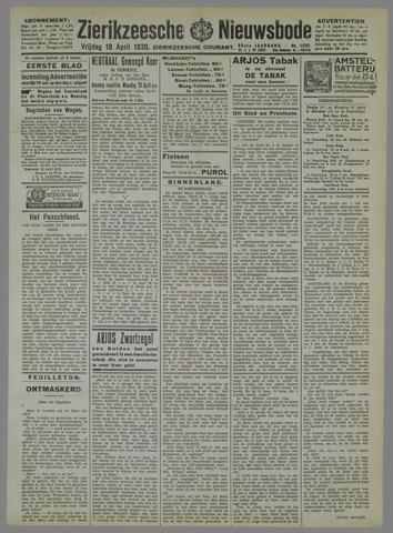 Zierikzeesche Nieuwsbode 1930-04-18