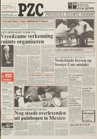 Provinciale Zeeuwse Courant 1985-09-25