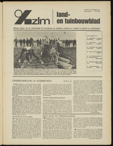 Zeeuwsch landbouwblad ... ZLM land- en tuinbouwblad 1971-10-22