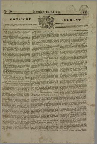 Goessche Courant 1842-07-25
