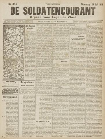 De Soldatencourant. Orgaan voor Leger en Vloot 1916-07-26