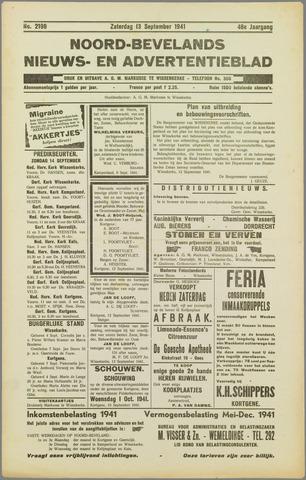 Noord-Bevelands Nieuws- en advertentieblad 1941-09-13