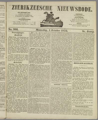 Zierikzeesche Nieuwsbode 1852-10-04