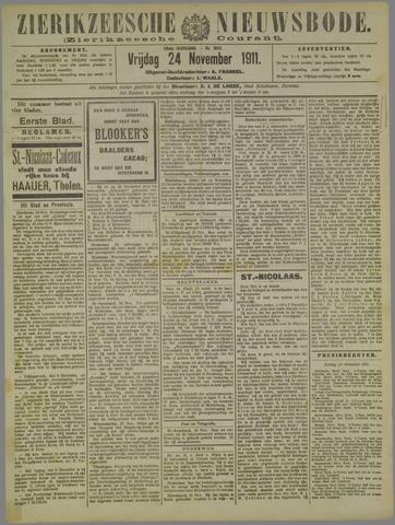 Zierikzeesche Nieuwsbode 1911-11-24