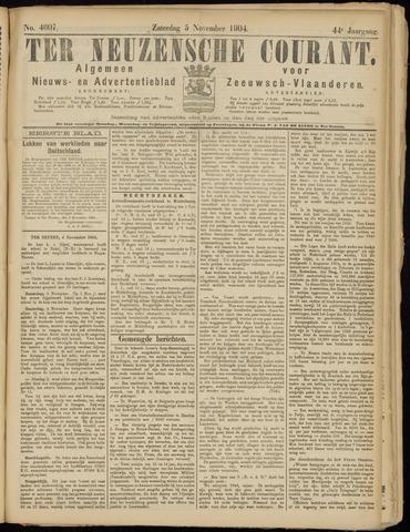 Ter Neuzensche Courant. Algemeen Nieuws- en Advertentieblad voor Zeeuwsch-Vlaanderen / Neuzensche Courant ... (idem) / (Algemeen) nieuws en advertentieblad voor Zeeuwsch-Vlaanderen 1904-11-05