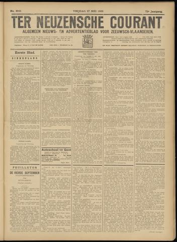 Ter Neuzensche Courant. Algemeen Nieuws- en Advertentieblad voor Zeeuwsch-Vlaanderen / Neuzensche Courant ... (idem) / (Algemeen) nieuws en advertentieblad voor Zeeuwsch-Vlaanderen 1932-05-27
