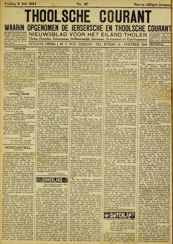 Ierseksche en Thoolsche Courant 1934-07-06