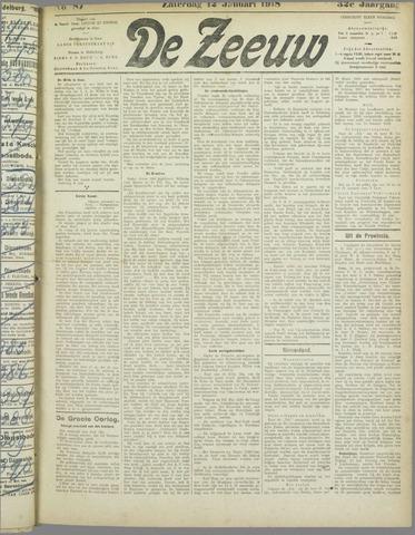 De Zeeuw. Christelijk-historisch nieuwsblad voor Zeeland 1918-01-12