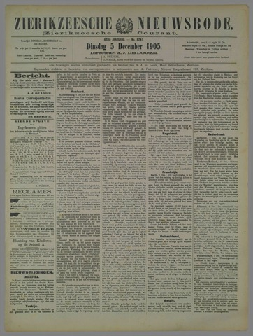 Zierikzeesche Nieuwsbode 1905-12-05
