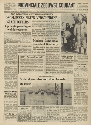 Provinciale Zeeuwse Courant 1961-04-04