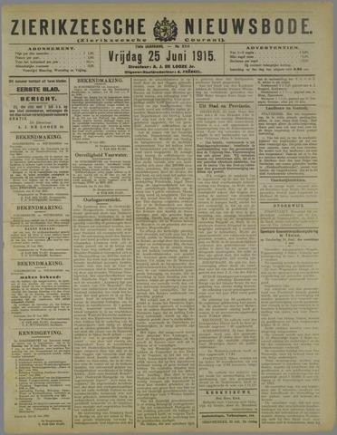Zierikzeesche Nieuwsbode 1915-06-25