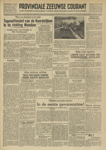 Provinciale Zeeuwse Courant 1951-02-13
