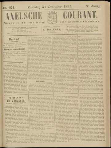 Axelsche Courant 1892-12-31