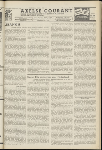 Axelsche Courant 1958-07-23