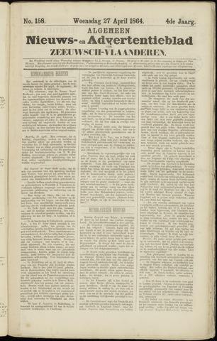 Ter Neuzensche Courant. Algemeen Nieuws- en Advertentieblad voor Zeeuwsch-Vlaanderen / Neuzensche Courant ... (idem) / (Algemeen) nieuws en advertentieblad voor Zeeuwsch-Vlaanderen 1864-04-27