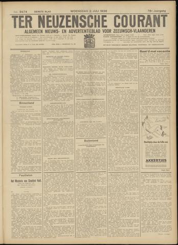 Ter Neuzensche Courant. Algemeen Nieuws- en Advertentieblad voor Zeeuwsch-Vlaanderen / Neuzensche Courant ... (idem) / (Algemeen) nieuws en advertentieblad voor Zeeuwsch-Vlaanderen 1936-07-08